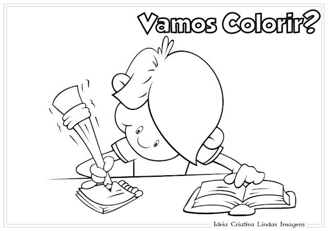 Desenho Volta às Aulas para colorir