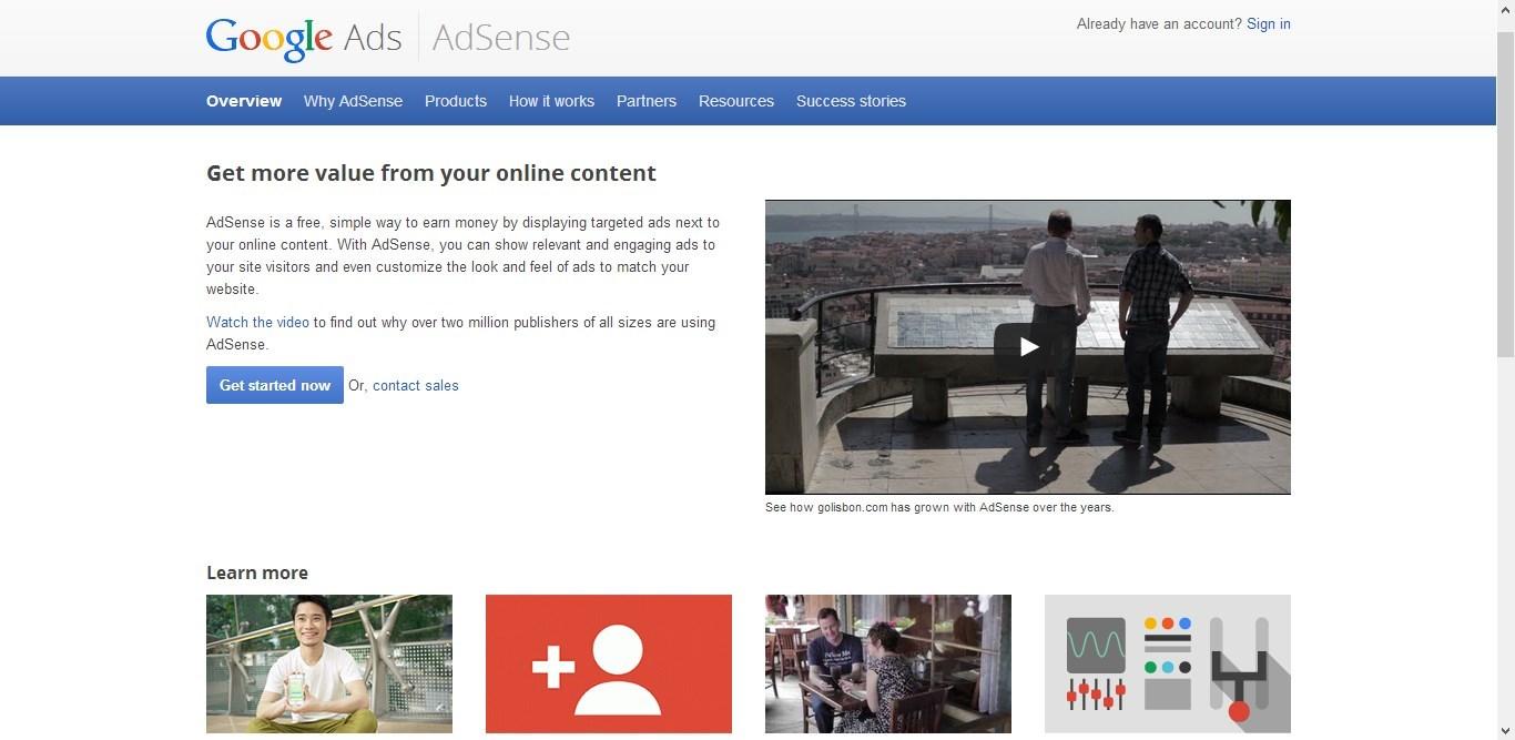 Cara Mendapatkan Uang dari Internet Google AdSense