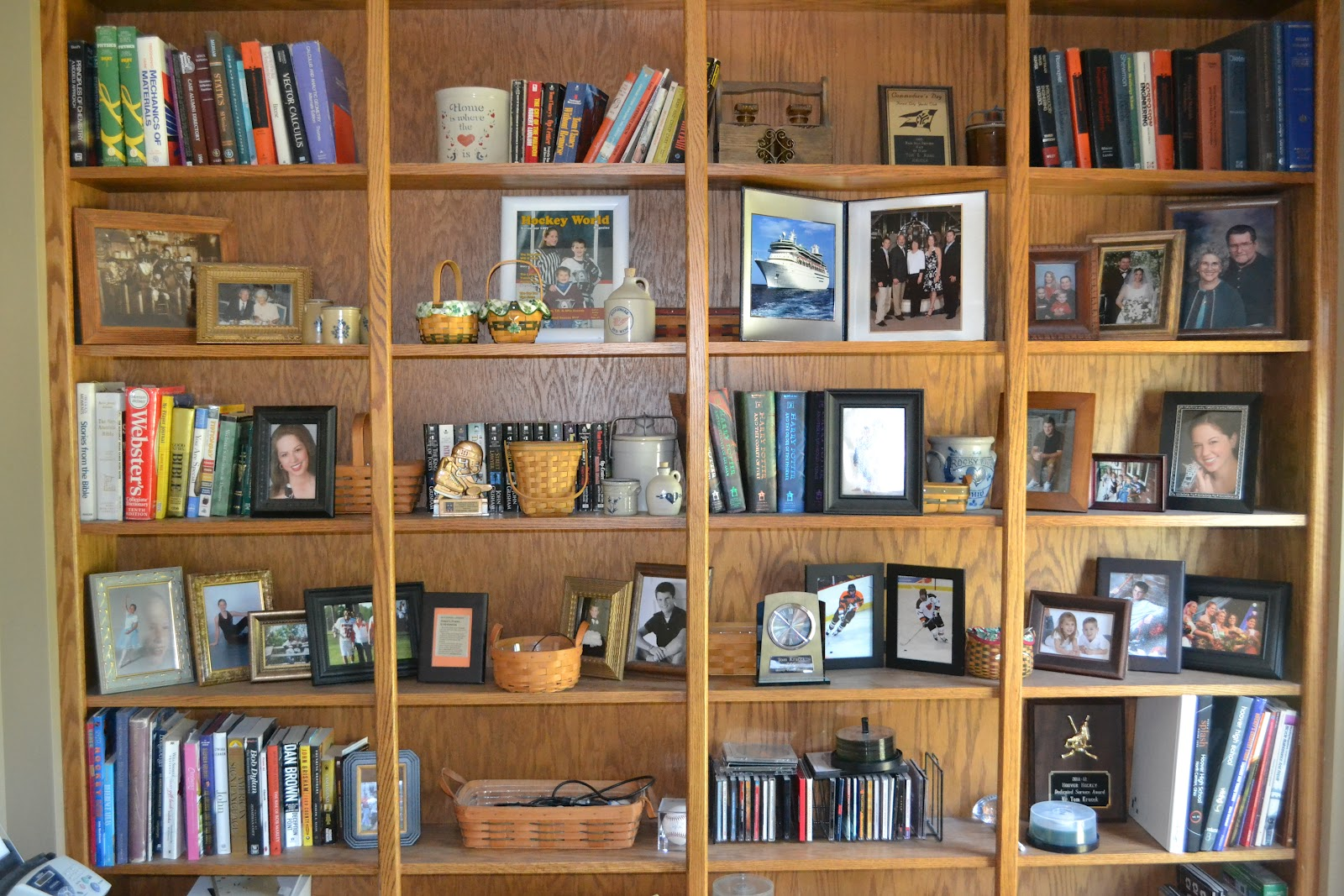 I Call These Bookshelves Loosely Because There Are In Fact Very Few Books  And Alot Of Junk On These Shelves. When Looking For A Place To Put The  Things I ...