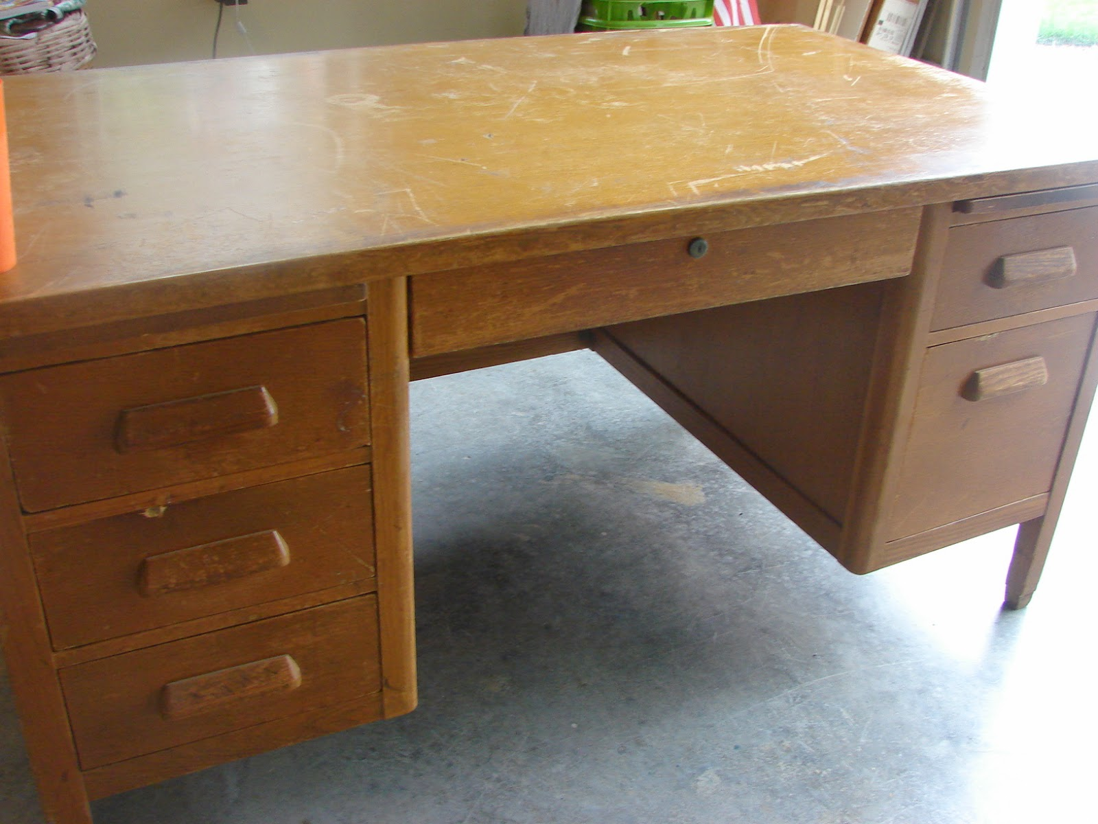 it picture for desk before stacy is risenmay refinished cleaned and up here old the tutorial i all
