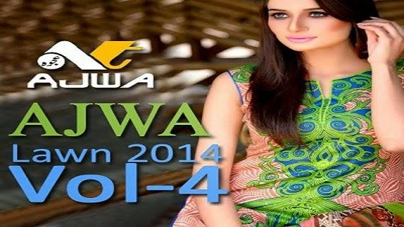Ajwa Chiffon Lawn Summer Dresses 2014