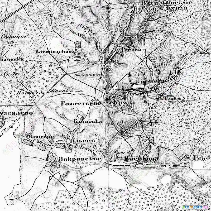 Карта Шуберта 1860 года,