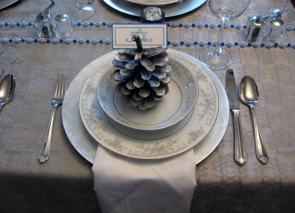 Winter Wonderland Hanukkah Table by SWT Boutique