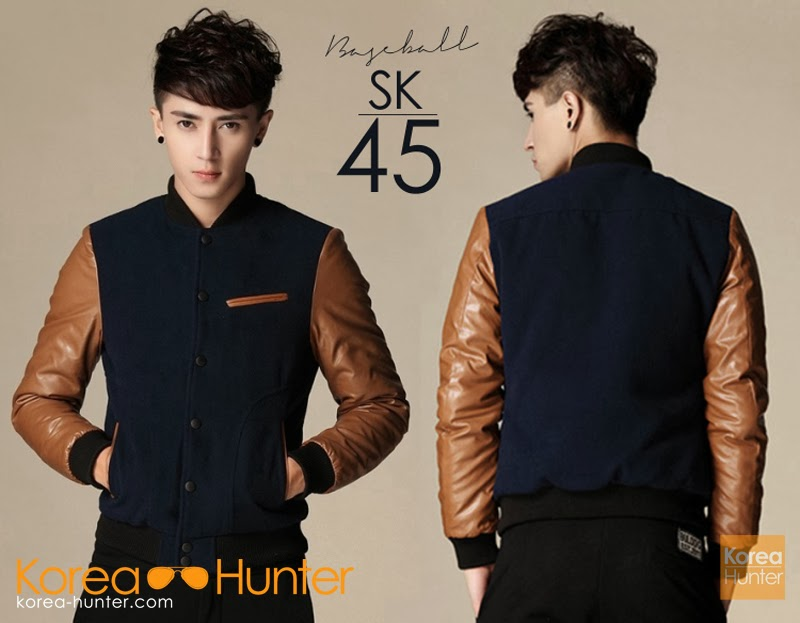 KOREA-HUNTER.com jual murah Jaket 'Baseball' Korean Style | kaos crows zero tfoa | kemeja national geographic | tas denim korean style blazer