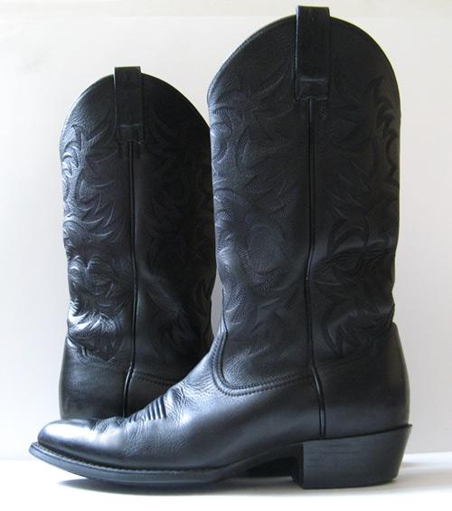 closet ariat black leather cowboy boots mens size 11