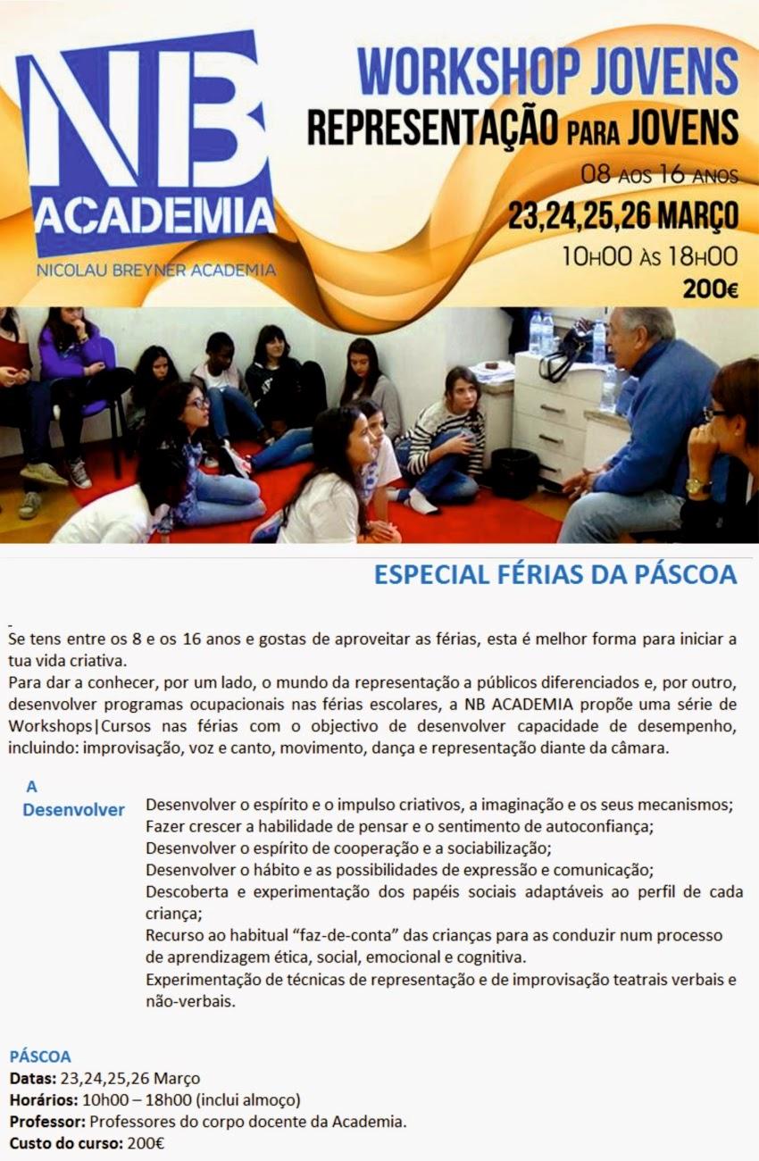 Workshop de Representação para Jovens na Academia Nicolau Breyner – Lisboa