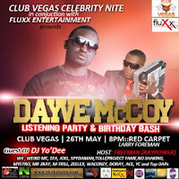 EVENT: Dayve MCcoy | Listening Party | Club Vegas Lagos | May 26th