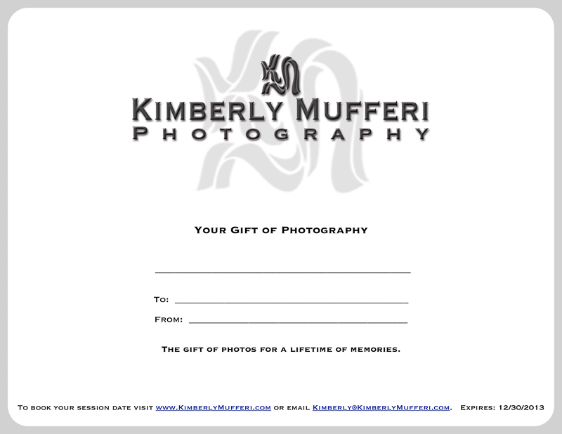 Photography Gift Certificate Ideas Kimberly mufferi photographyPhotography Gift Certificate Ideas
