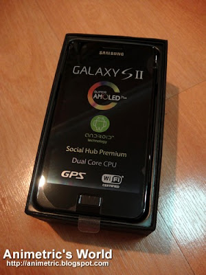 Samsung Galaxy S2 mobile phone in box