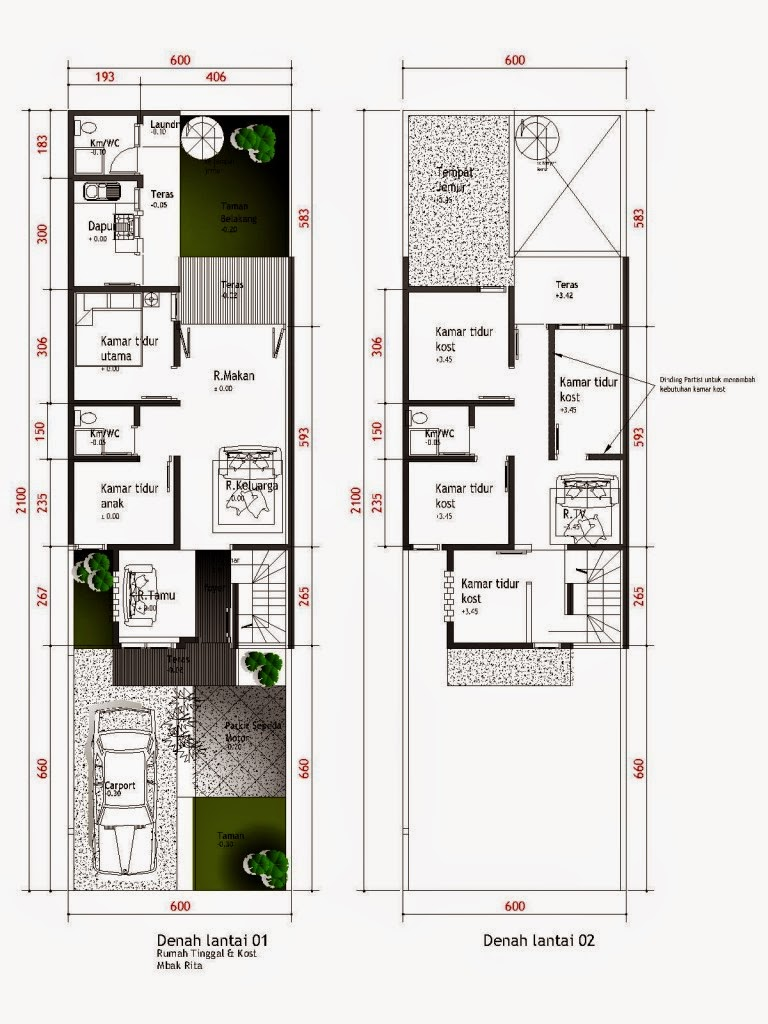 Desain Rumah Minimalis 1 Lantai 10 X 20