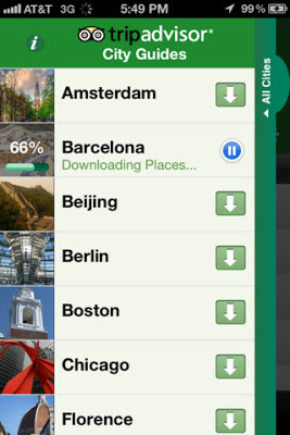 Trip advisor city guide app