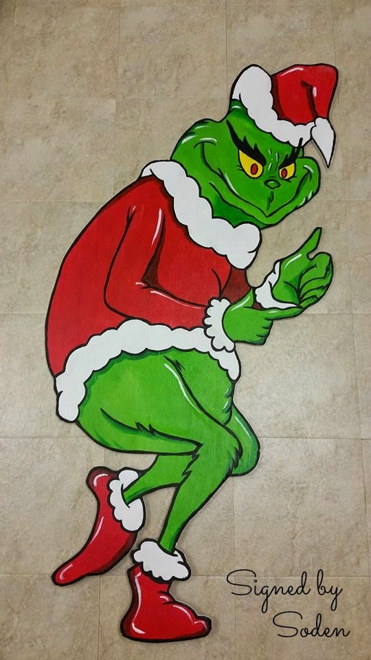 Grinch front yard Christmas decoration