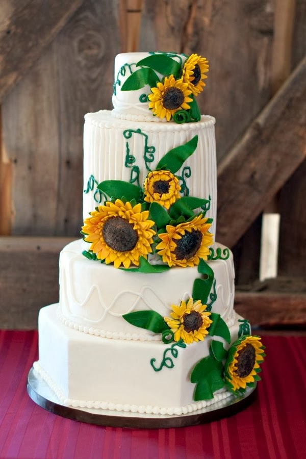 memorable wedding serve a sunflower wedding cake to showcase your style. Black Bedroom Furniture Sets. Home Design Ideas