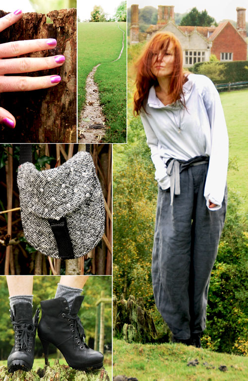 Psynopsis Vintage Katherine Hamnett Trousers Collage