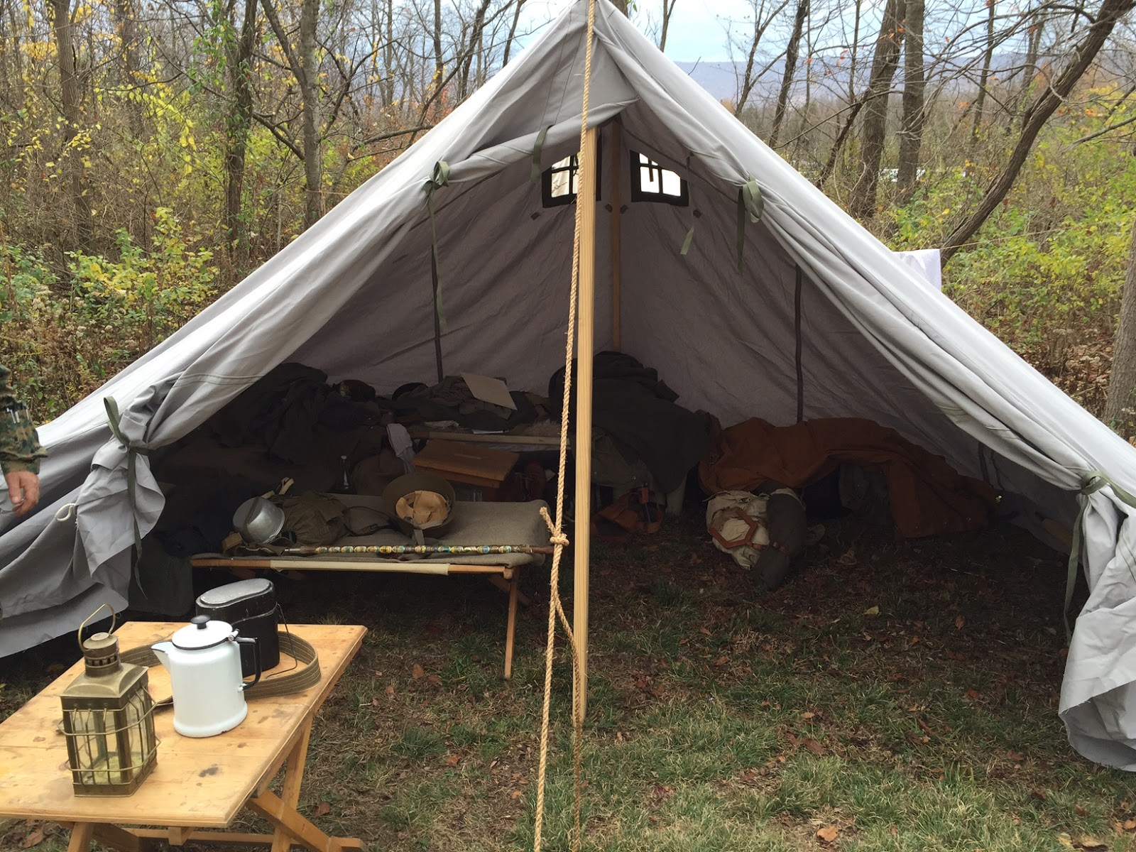 GERBIRGSNACHRICHTENZELT - Smaller Staff Moutain Tent & German WWII Tents from Armbruster | Armbruster Tent Maker