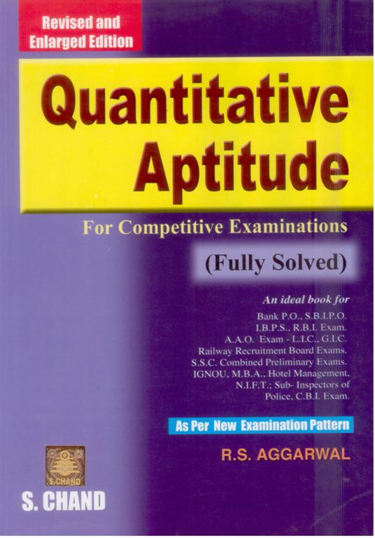 Quantitative Aptitude by R.S.Agarwal