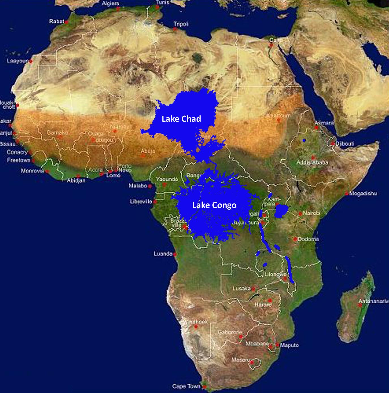 The Kinshasa Mega Dam - Part 2: Lake Chad   Mapalomania