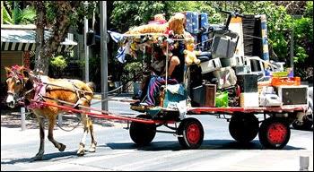horse-drawn cart