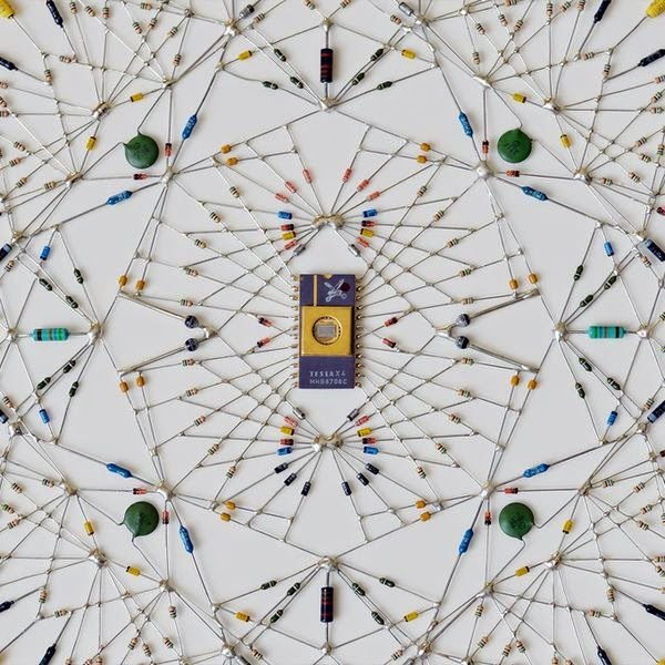 Technological Mandalas Made from Soldered electronic Components 6