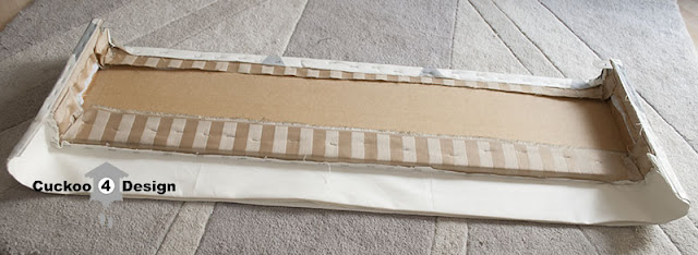 DIY fabric covered window cornice valance