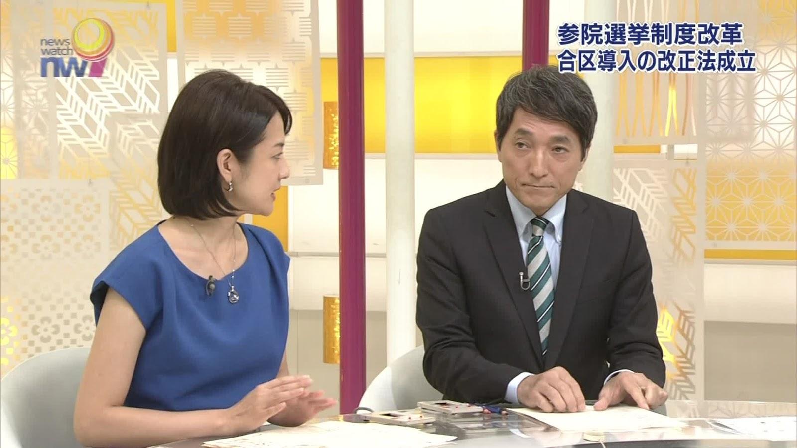 鈴木奈穂子さん 15年7月28日 NHK ニュ−スウオッチ9 鈴木奈穂子さん 15年7月28日