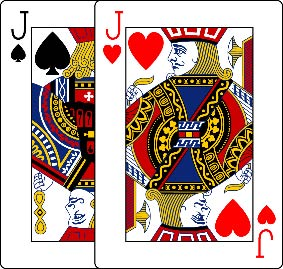 Image result for picture of double jacks cards