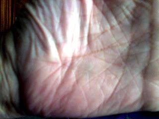 Estrella de 5 puntas en Neptuno en la mano