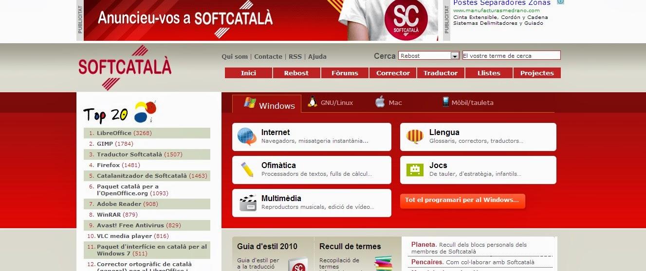 Pàgina de SOFTCATALÀ