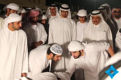 Burial photos of prince of Dubai, Sheikh Rashid bin Rashid Al Maktoum.