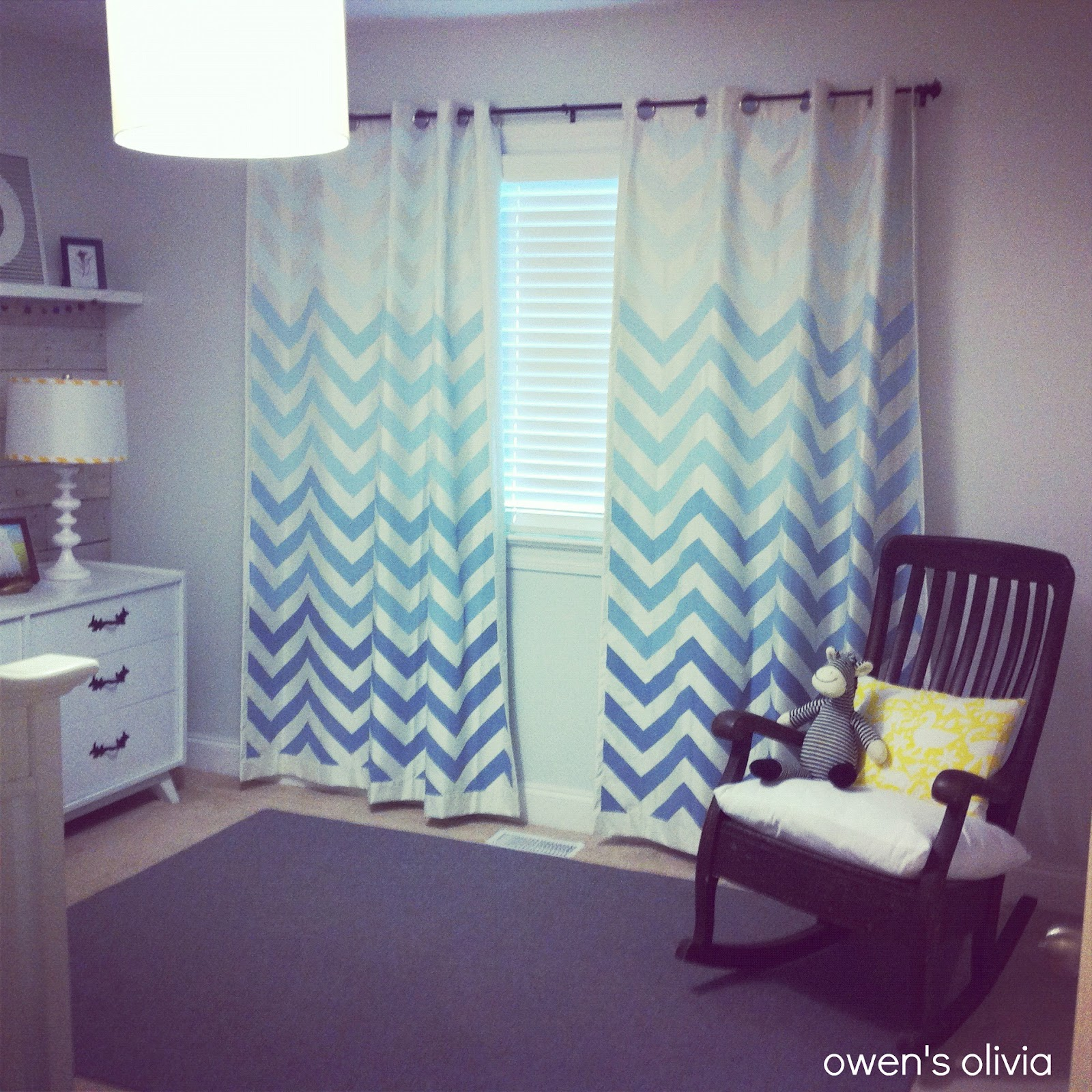 Light Blue And Yellow Curtains I bought plain curtains for