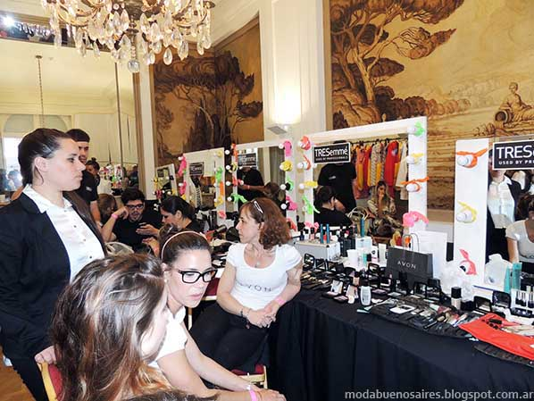 Six O'Clock Tea primavera verano 2014. Backstage Moda 2014.