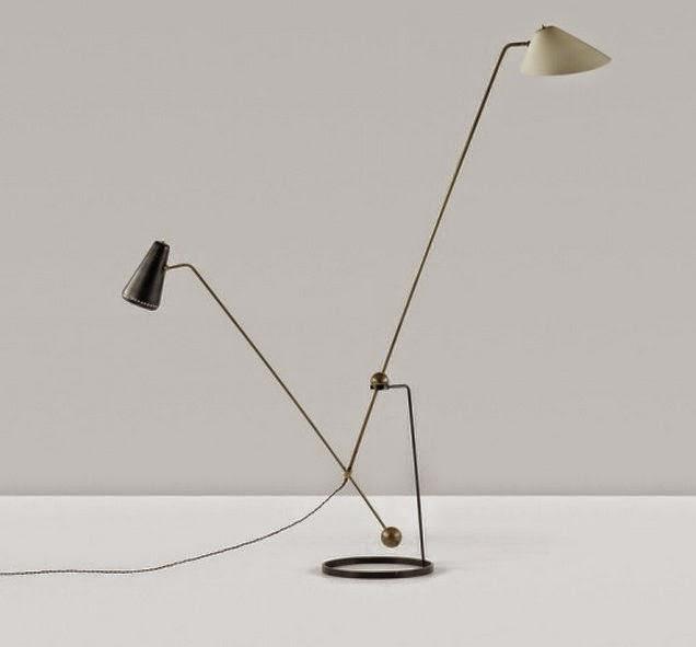 Equilibrium double branch floor lamp for disderot