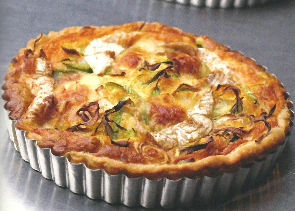 Gourmandises de f es tarte aux poireaux et chaource - Tarte aux poireaux sans creme ...