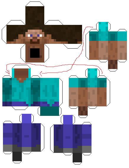 Minecraft Papercraft Templates