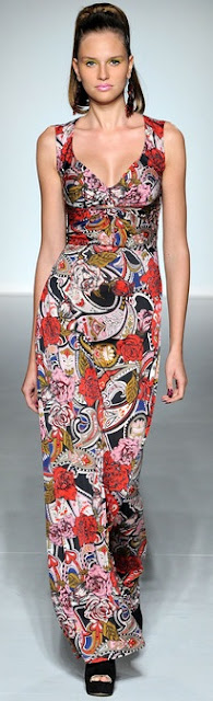 v neck paisley maxi dress ppq spring 2013