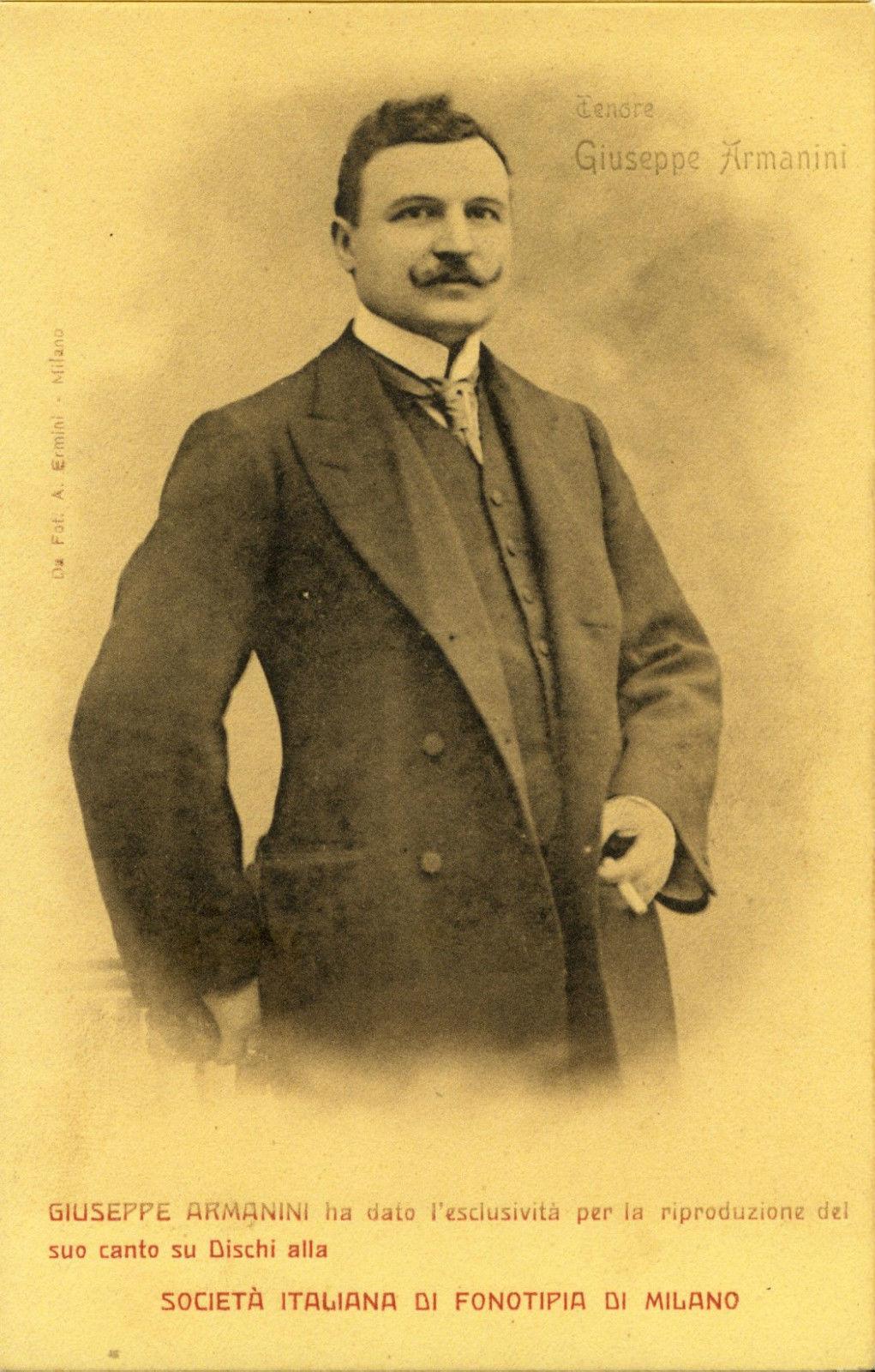 ITALIAN TENOR GIUSEPPE ARMANINI (1874 - 1915) 2 CD