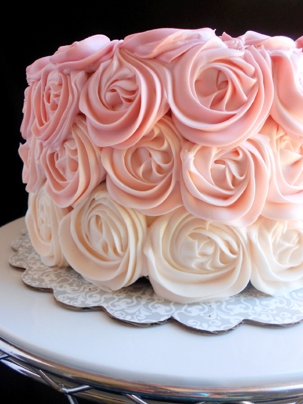 Rose Day Cake Images : Pink Ombre Rose Cake - Confessions of a Confectionista