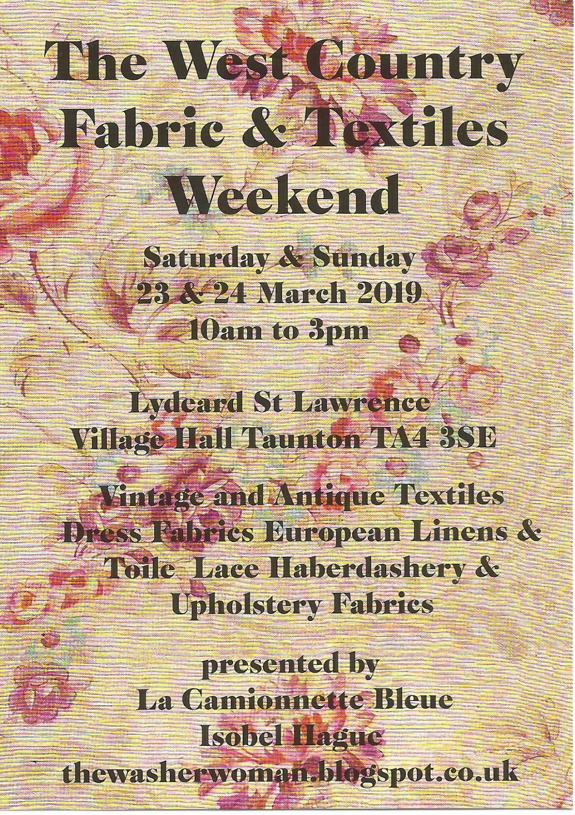 The West Country Textile Weekend