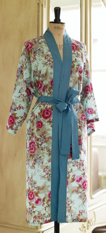 The Vintage Pattern Files Free 1940's Sewing Pattern - Floral Oriental Kimono Robe
