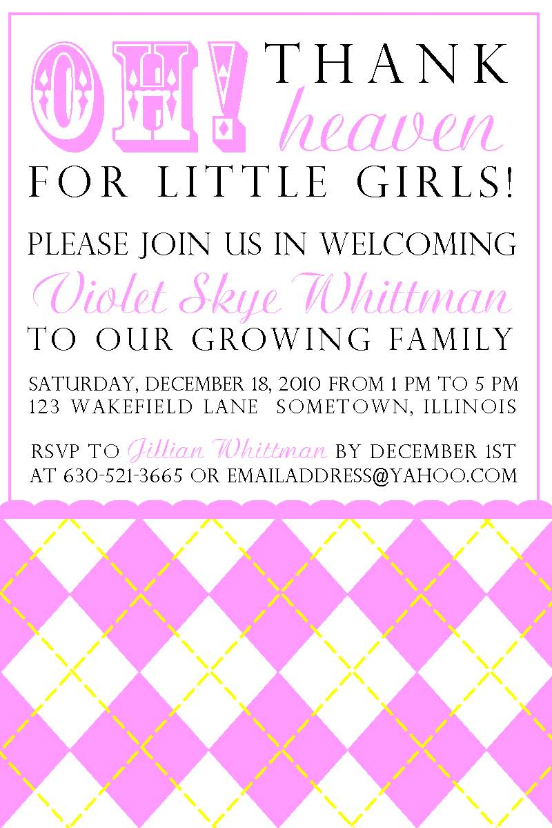 nikki t designs baby girl shower invitation