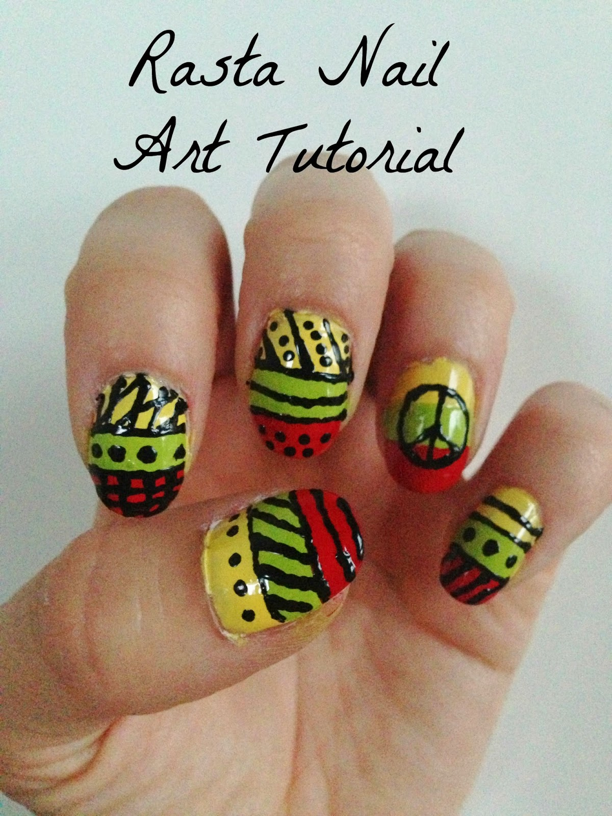 - Rasta Nail Art Tutorial - Jersey Girl, Texan Heart