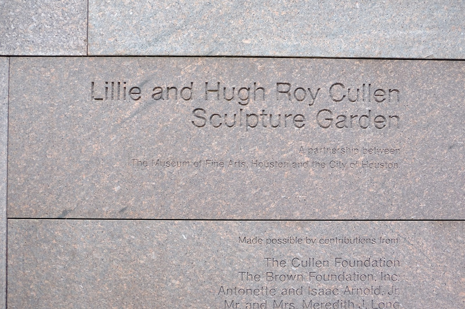 Red bread tie houston lillie and hugh roy cullen - Lillie and hugh roy cullen sculpture garden ...