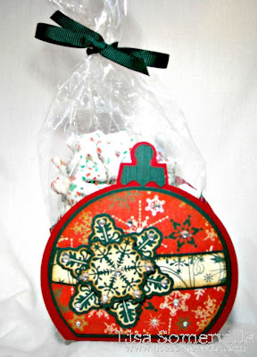 Stamps - Our Daily Bread Designs Snowflake Background, Sparkling Snowflakes, ODBD Custom Snowflake Die.  Ornament Box Template from Creations by AR.  Pattern Paper - Bo Bunny Rejoice Collection