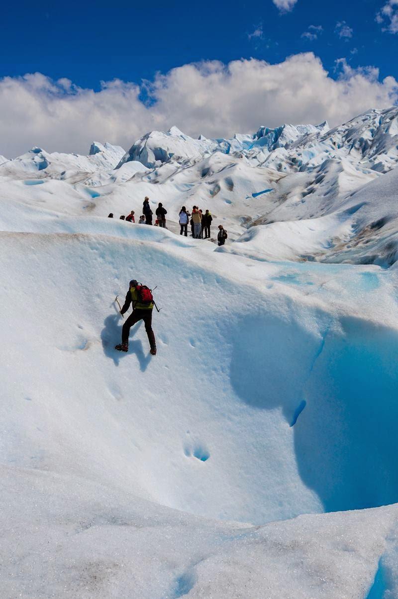 Climbing Perito Moreno Glacier.