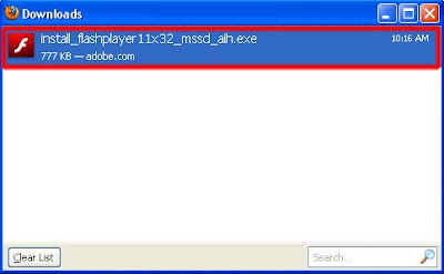 Tahap 3 Cara Install Adobe Flash Player