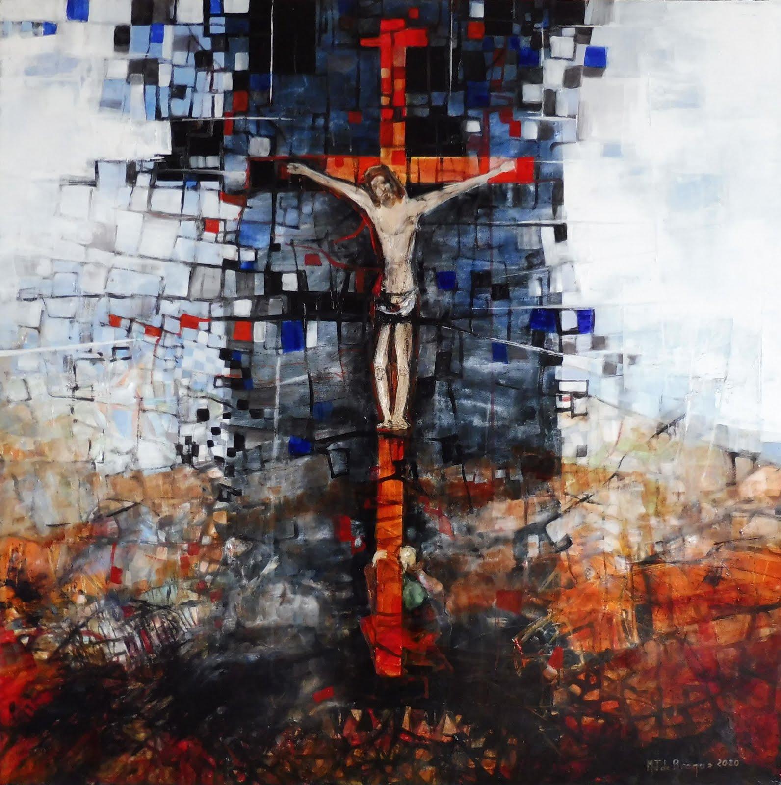 Crucifixion - 80 x 80 cm - 2020
