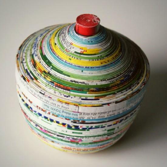 To diy or not to diy cestinhos de papel reciclado for Diy paper bowl