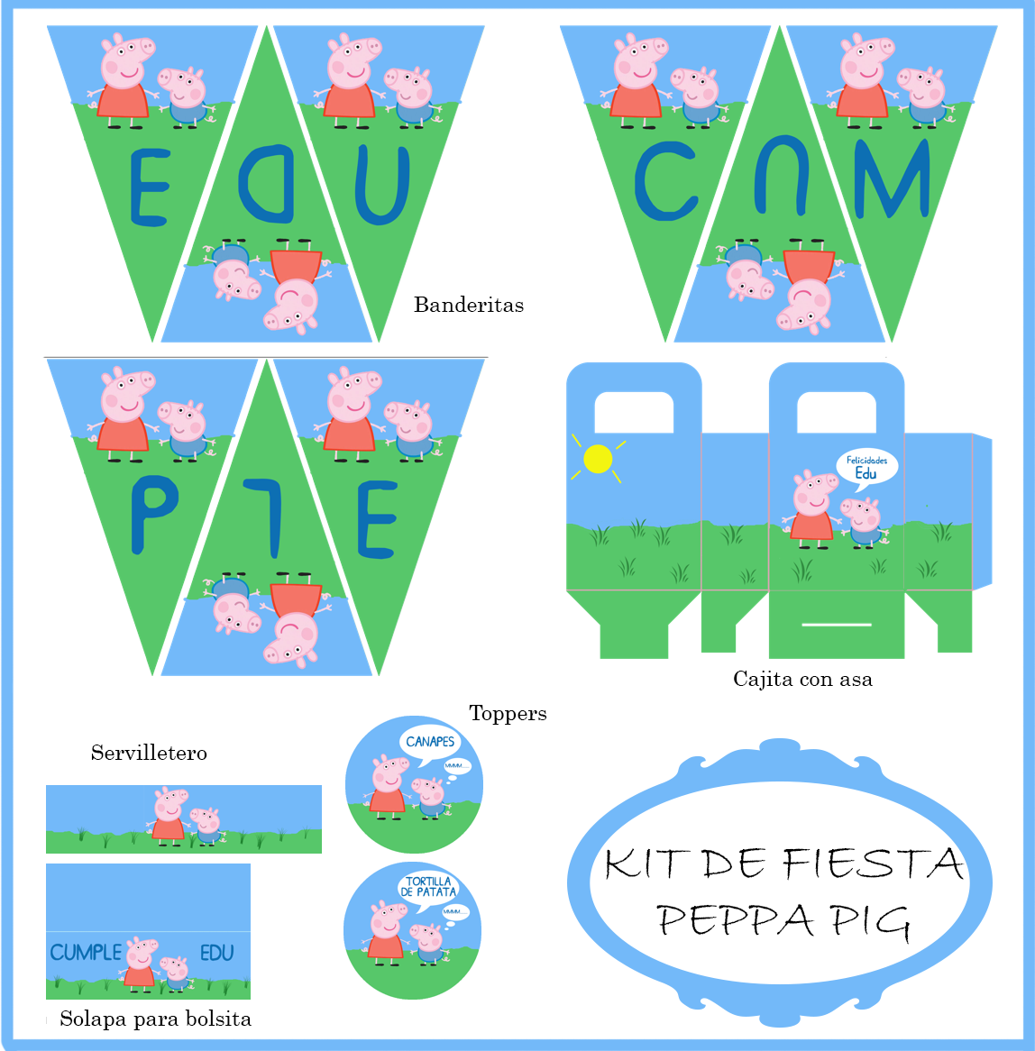 KIT DE FIESTA PEPPA PIG Y GEORGE