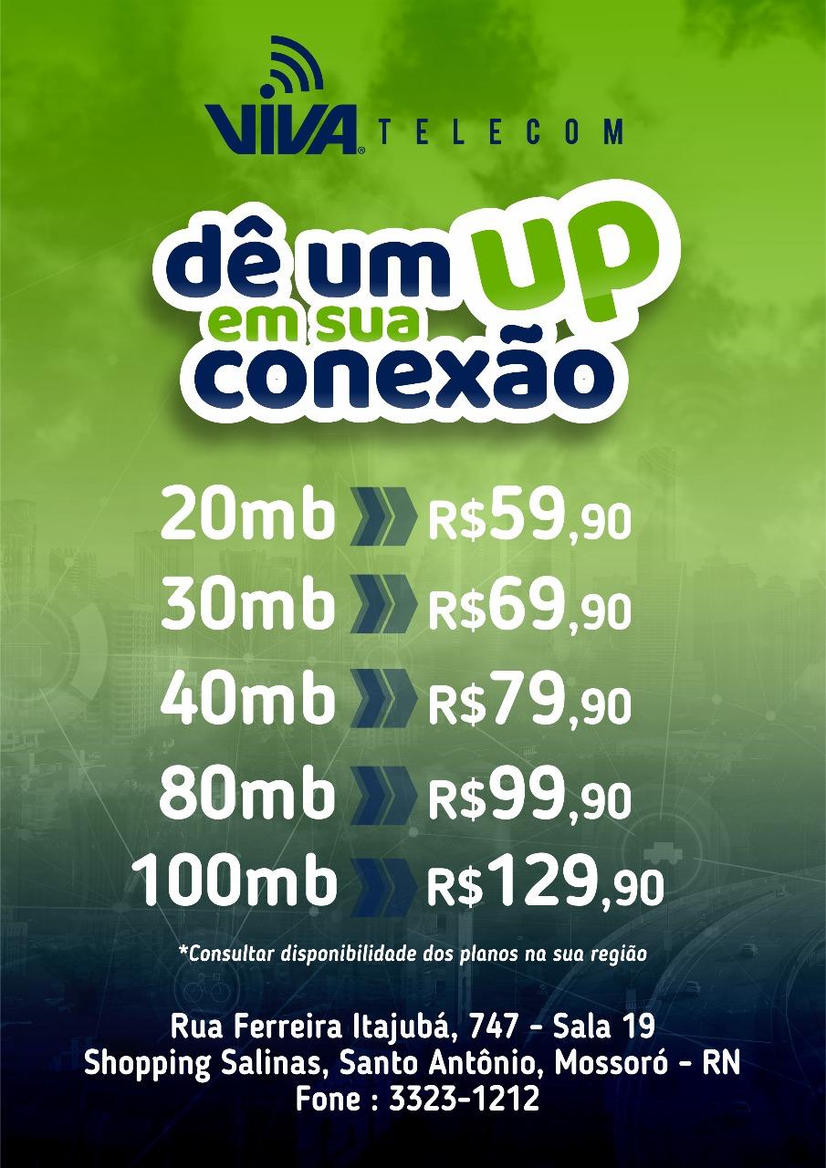 Mega promoção com a Internet VIVA em Alto do Rodrigues!