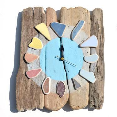 Relógio reutilize materiais diversos